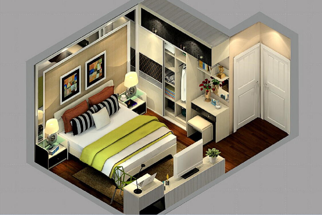 Interiors 3D Visualization Of An Apartment