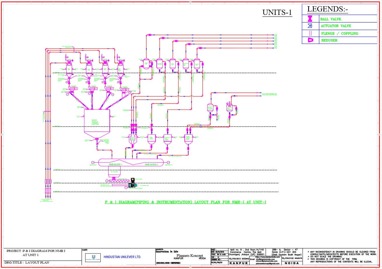 Outsourcing Services Planners Koncept Piping Layout Consultants Preparation Of Complete Set Working Drawings The Projects